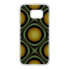 Abstract Background Design Samsung Galaxy S7 Edge White Seamless Case