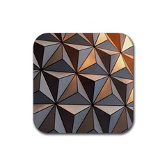 3d Abstract  Pattern Rubber Coaster (square)