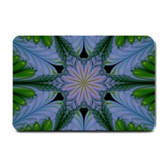 Abstract Flower Artwork Art Green Small Doormat