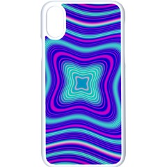Abstract Artwork Fractal Background Blue Iphone Xs Seamless Case (white) by Sudhe