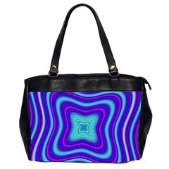 Abstract Artwork Fractal Background Blue Oversize Office Handbag (2 Sides)