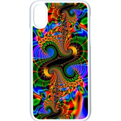 Abstract Fractal Artwork Colorful Iphone Xs Seamless Case (white) by Sudhe