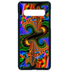 Abstract Fractal Artwork Colorful Samsung Galaxy S10 Seamless Case(black)