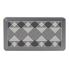 Monochrome Geometric Herringbone Seamless Pattern Vector Memory Card Reader (mini) by Sudhe