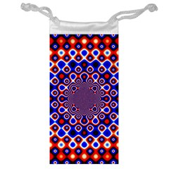 Digital Art Background Red Blue Jewelry Bag