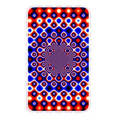 Digital Art Background Red Blue Memory Card Reader (rectangular)