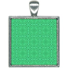 Green Harmony Square Necklace by TimelessFashion