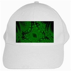 Background Texture Design Geometric Green Black White Cap