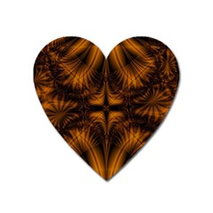 Background Pattern Yellow Gold Black Heart Magnet