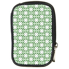 Green Leafs 3 Compact Camera Leather Case