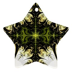 Abstract Fractal Pattern Artwork Ornament (star)