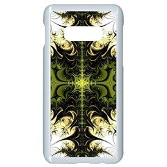 Abstract Fractal Pattern Artwork Samsung Galaxy S10e Seamless Case (white)