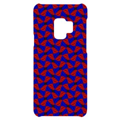 Background Texture Design Geometric Red Blue Samsung S9 Black Uv Print Case