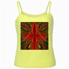 Abstract Abstract Art Fractal Yellow Spaghetti Tank