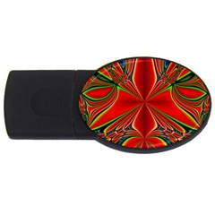 Abstract Abstract Art Fractal Usb Flash Drive Oval (2 Gb)