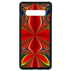 Abstract Abstract Art Fractal Samsung Galaxy S10 Plus Seamless Case (black) by Sudhe