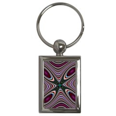 Abstract Artwork Fractal Background Key Chain (rectangle)