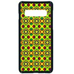 Background Pattern Geometrical Samsung Galaxy S10 Seamless Case(Black) Front