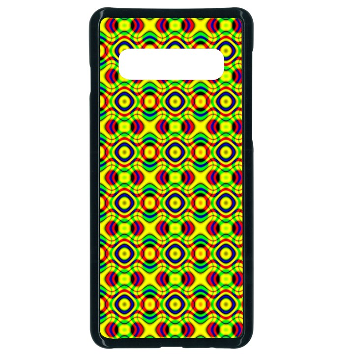 Background Pattern Geometrical Samsung Galaxy S10 Seamless Case(Black)