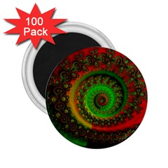 Abstract Fractal Pattern Artwork Art 2 25  Magnets (100 Pack)  by Sudhe