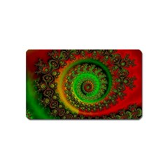 Abstract Fractal Pattern Artwork Art Magnet (name Card) by Sudhe