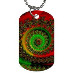 Abstract Fractal Pattern Artwork Art Dog Tag (two Sides) by Sudhe