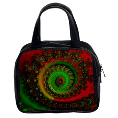 Abstract Fractal Pattern Artwork Art Classic Handbag (two Sides) by Sudhe