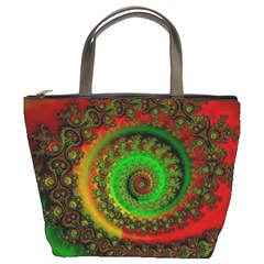 Abstract Fractal Pattern Artwork Art Bucket Bag by Sudhe