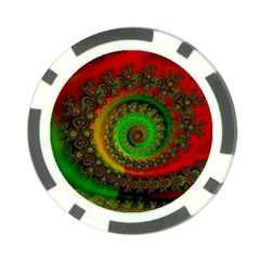 Abstract Fractal Pattern Artwork Art Poker Chip Card Guard (10 Pack) by Sudhe