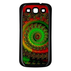 Abstract Fractal Pattern Artwork Art Samsung Galaxy S3 Back Case (black) by Sudhe