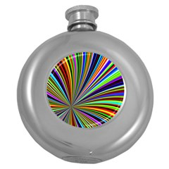Background Design Pattern Colorful Round Hip Flask (5 Oz)