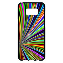 Background Design Pattern Colorful Samsung Galaxy S8 Plus Black Seamless Case