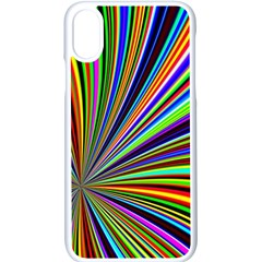 Background Design Pattern Colorful Iphone Xs Seamless Case (white)
