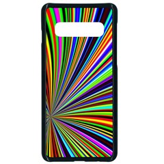 Background Design Pattern Colorful Samsung Galaxy S10 Seamless Case(black) by Sudhe