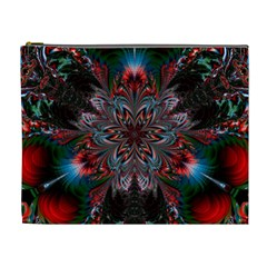 Abstract Flower Artwork Art Cosmetic Bag (xl)