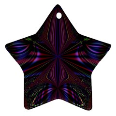 Abstract Abstract Art Fractal Star Ornament (two Sides)