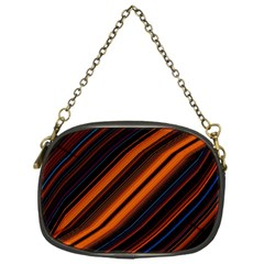 Background Pattern Lines Chain Purse (one Side)