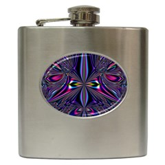 Abstract Art Fractal Fulcolor Hip Flask (6 Oz)