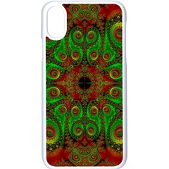 Abstract Fractal Pattern Artwork Pattern Iphone Xs Seamless Case (white)