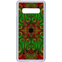 Abstract Fractal Pattern Artwork Pattern Samsung Galaxy S10 Plus Seamless Case(white)