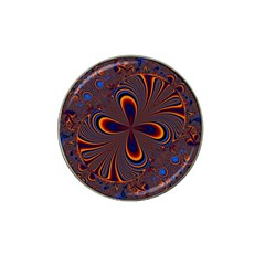 Abstract Fractal Background Pattern Hat Clip Ball Marker (4 Pack)