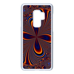 Abstract Fractal Background Pattern Samsung Galaxy S9 Plus Seamless Case(white)