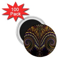 Abstract Fractal Pattern Artwork 1 75  Magnets (100 Pack)