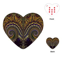 Abstract Fractal Pattern Artwork Playing Cards Single Design (heart) by Sudhe