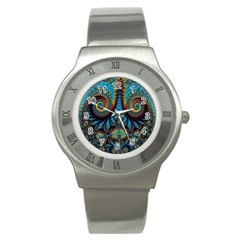 Abstract Art Fractal Creative Stainless Steel Watch by Sudhe