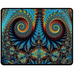 Abstract Art Fractal Creative Double Sided Fleece Blanket (medium)  by Sudhe