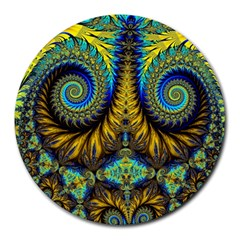 Abstract Art Fractal Creative Round Mousepads