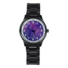 Art Fractal Artwork Creative Stainless Steel Round Watch