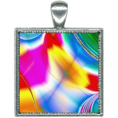 Color Concept Colors Colorful Square Necklace by Pakrebo