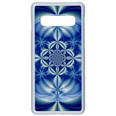 Abstract Art Artwork Fractal Design Samsung Galaxy S10 Seamless Case(white)